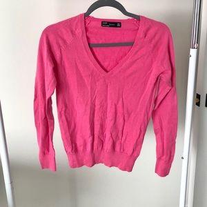 Zara Pink Medium V Neck Sweater
